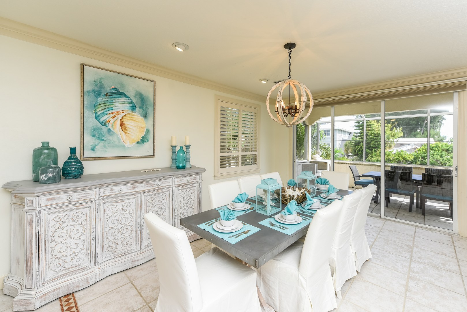 Dining Room Table for 8 with Gulf Views