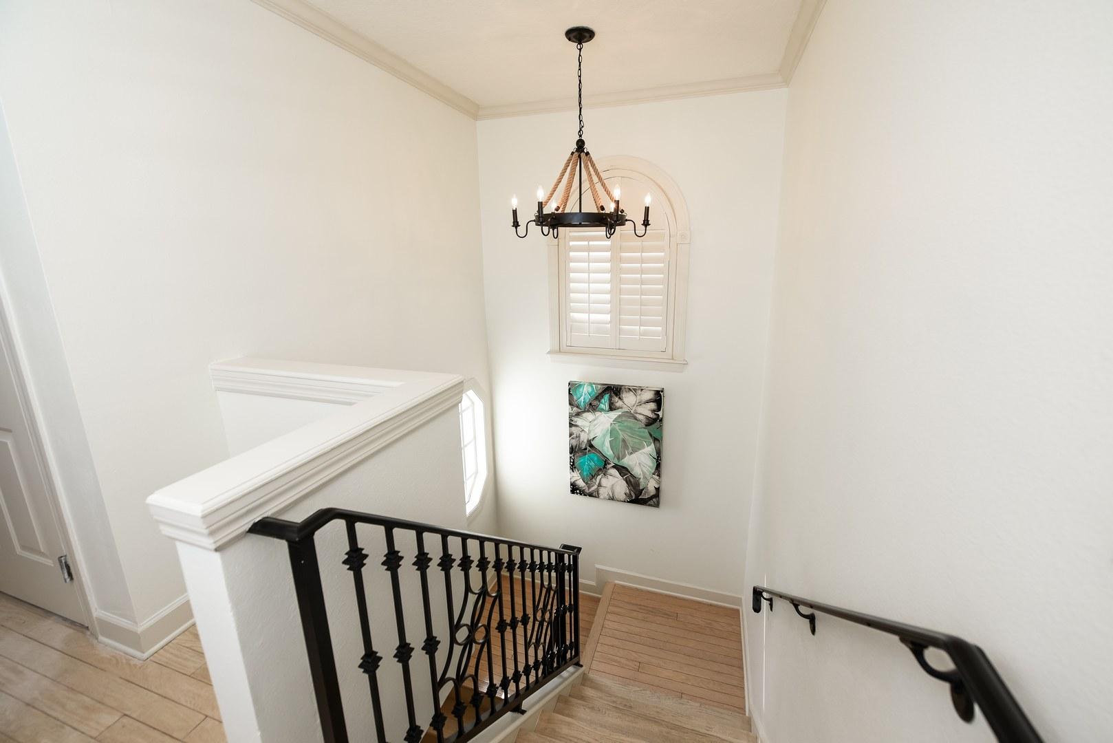 Staircase to Bedrooms and Roof Top Deck