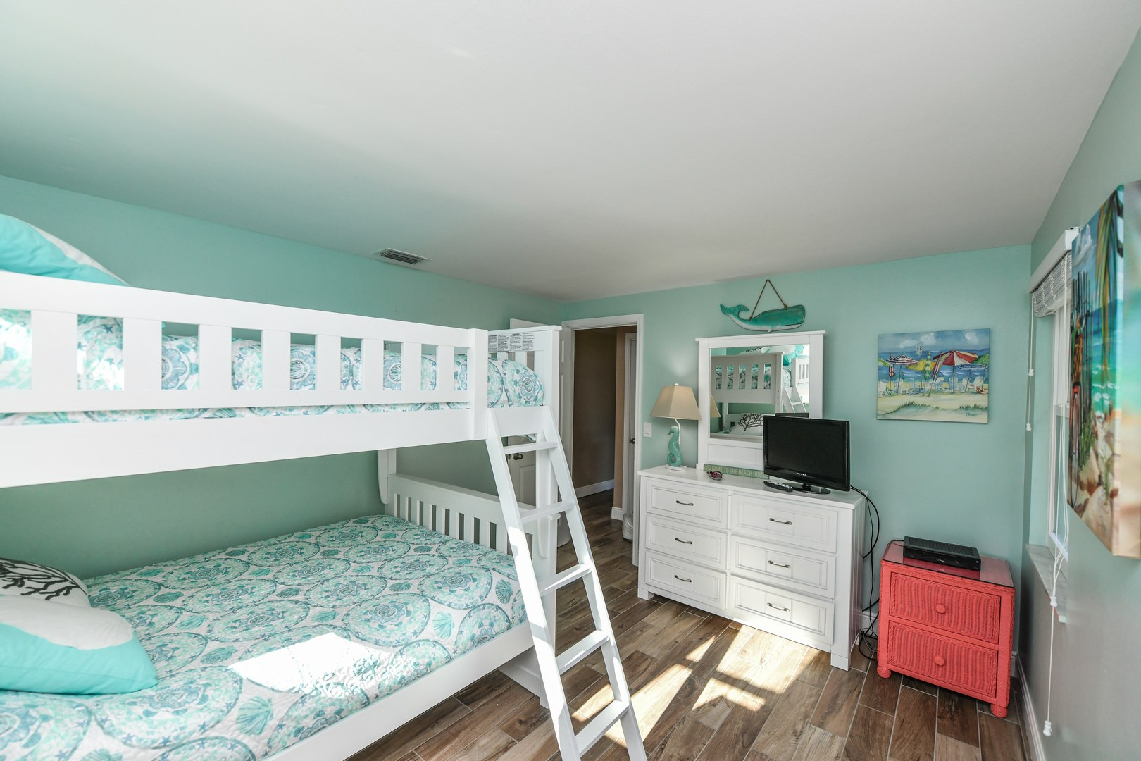 Full over Full Bunk Bed with Twin Trundle
