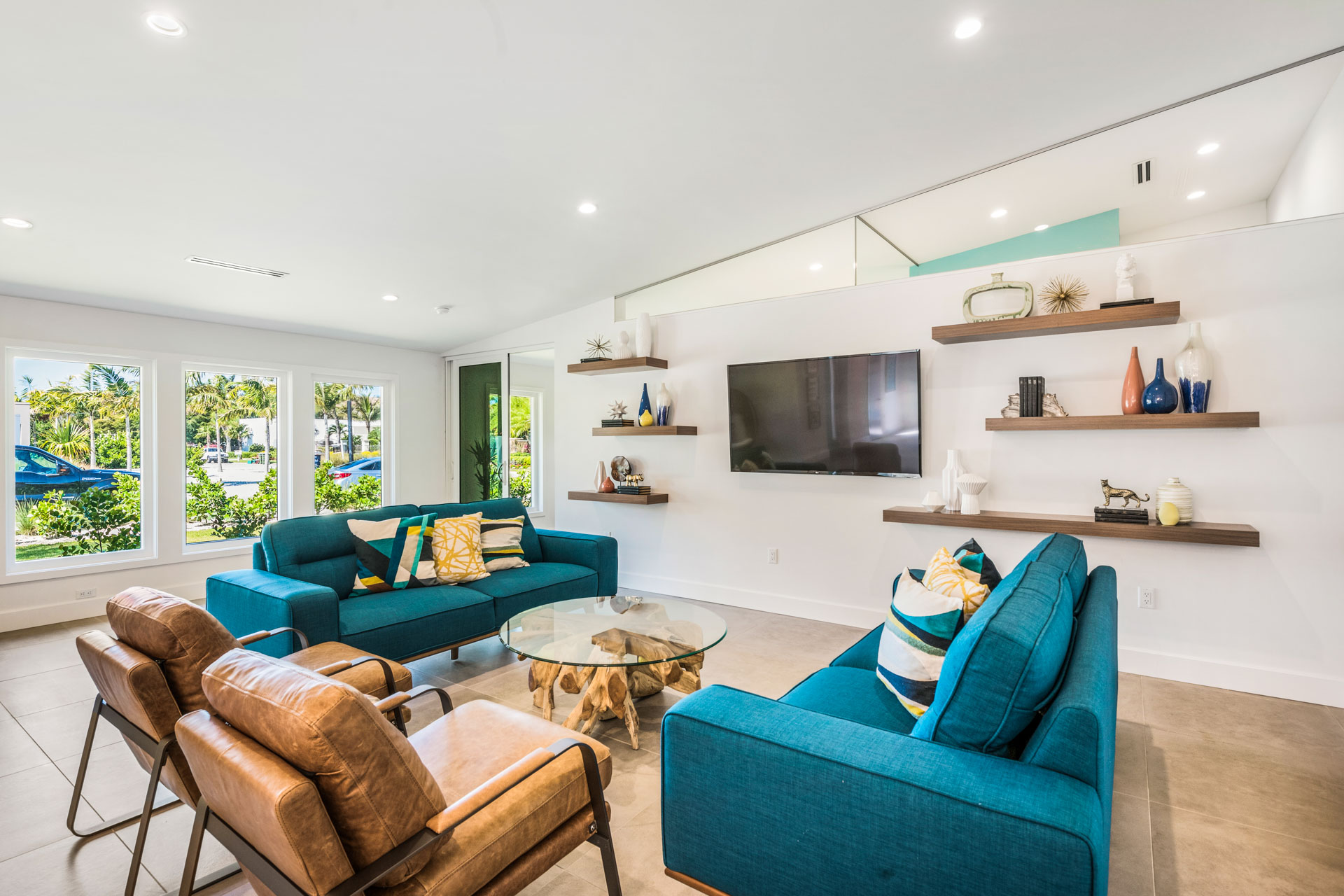 Living Space with Large HDTV
