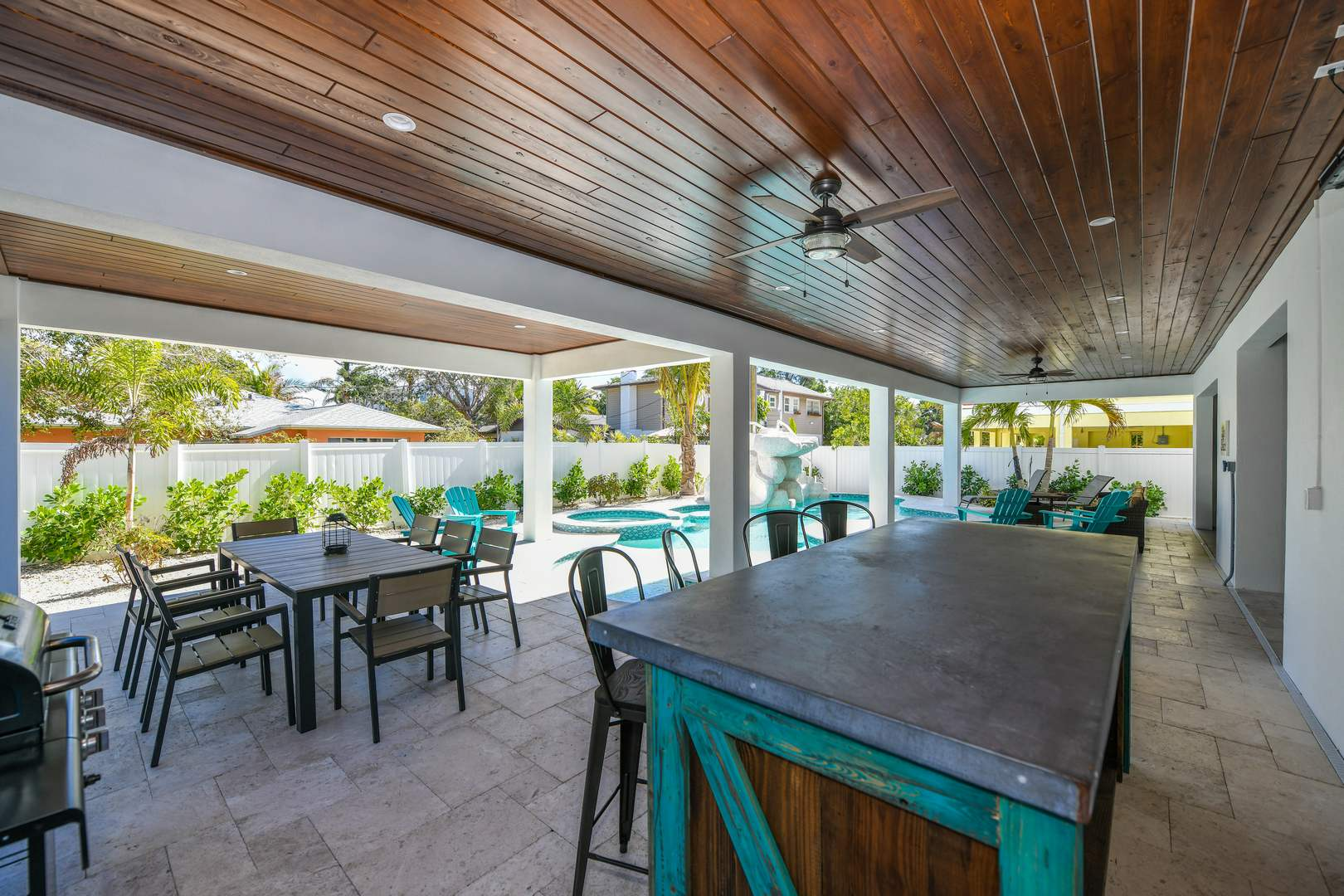Example - covered patio by pool