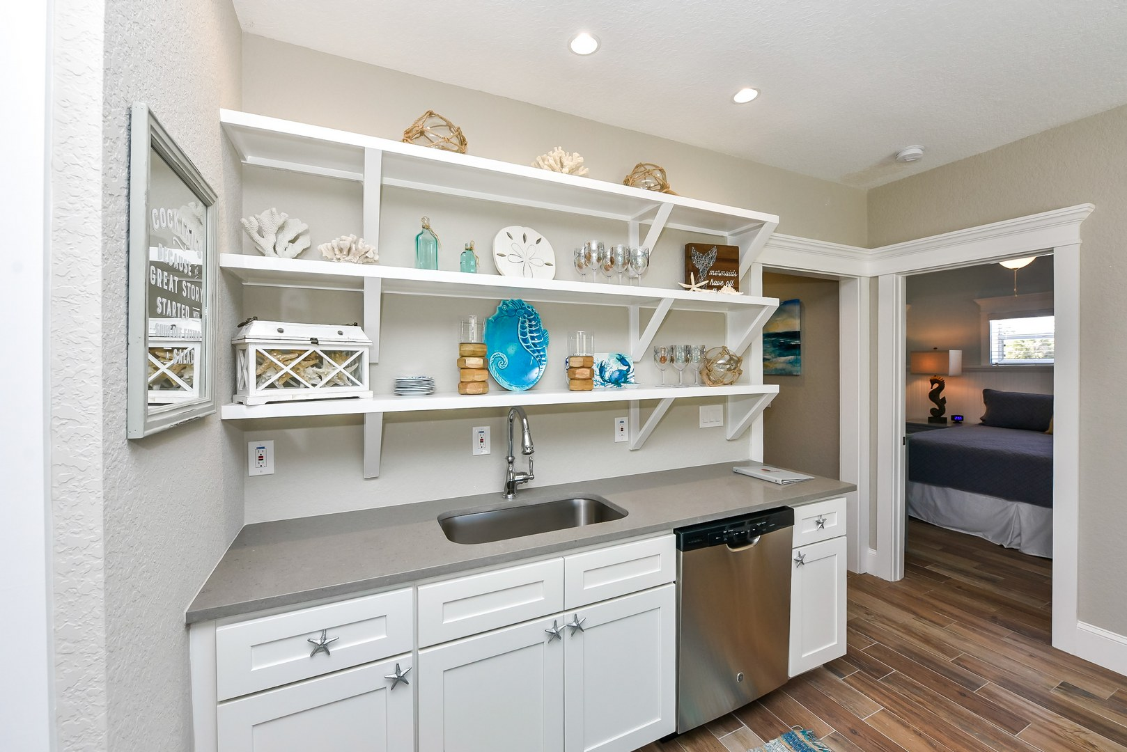 Example Photo - Wet Bar in 3rd Level Den Space w/ Seating