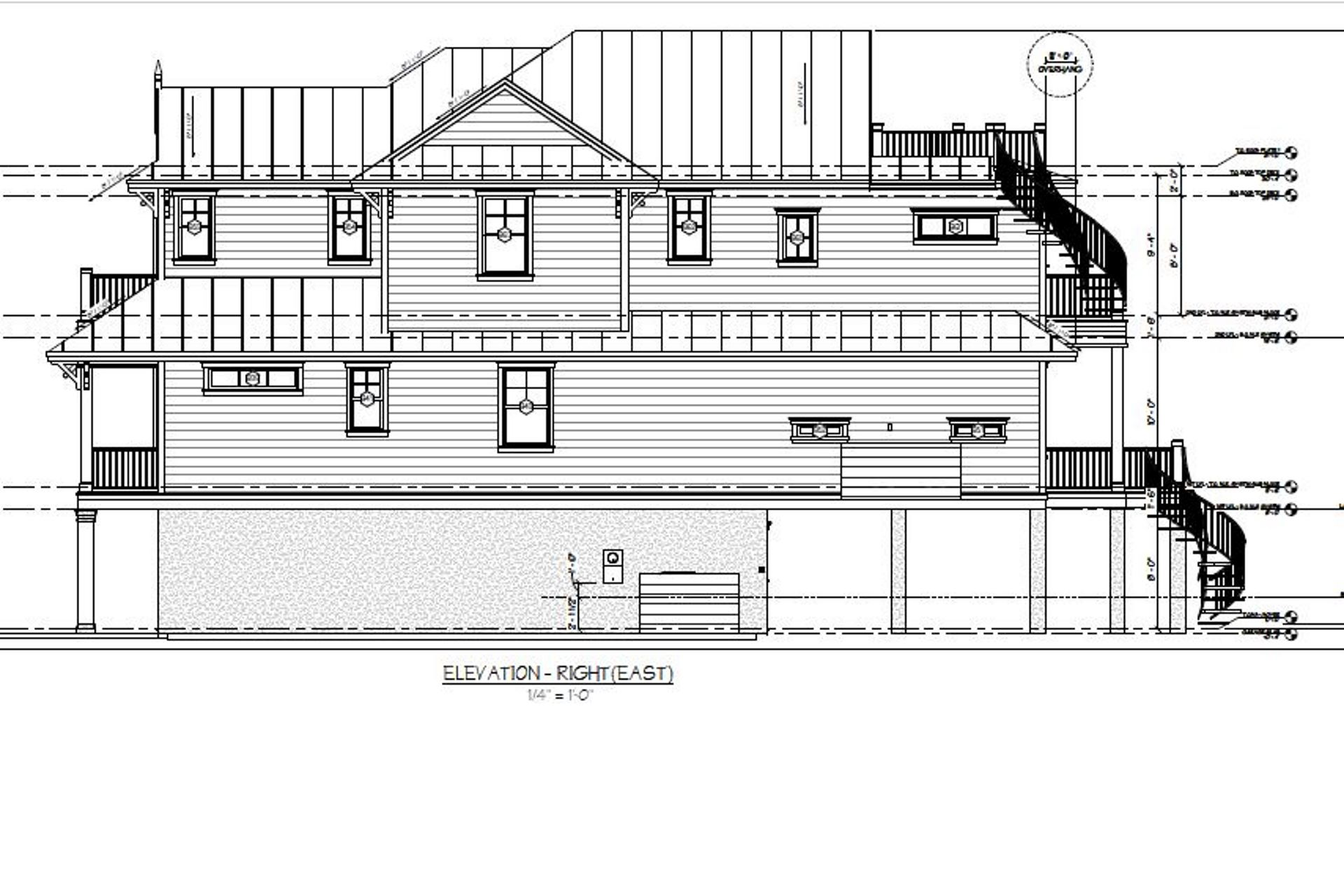 221 Grant - Right Elevation