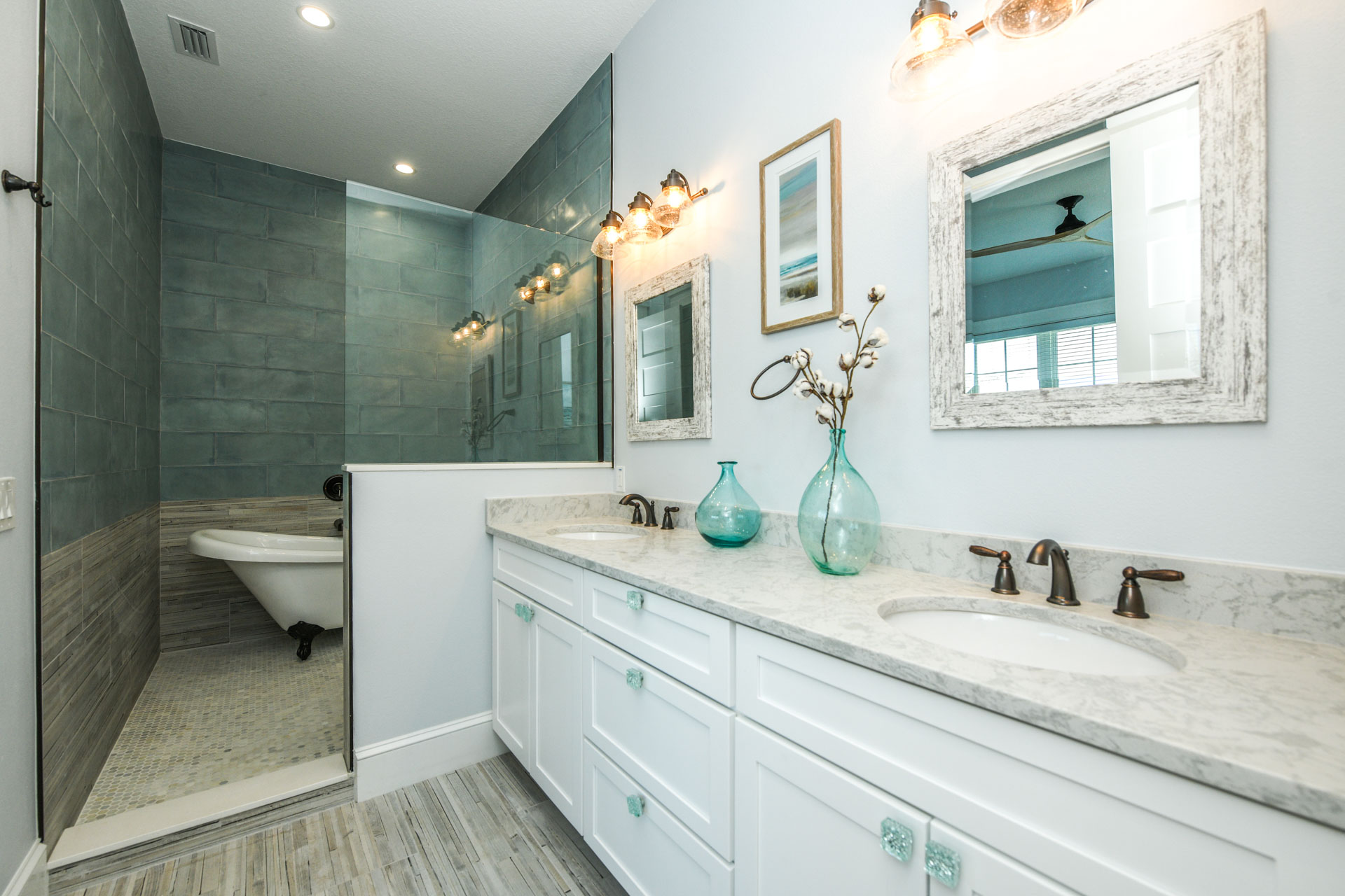 EXAMPLE - Bathroom with Tub in Walk In Shower