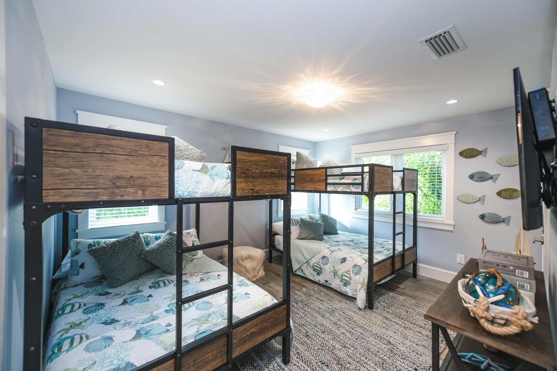EXAMPLE- Bunk Room w/ 2 Full over Full Bunk Beds w/ Trundles