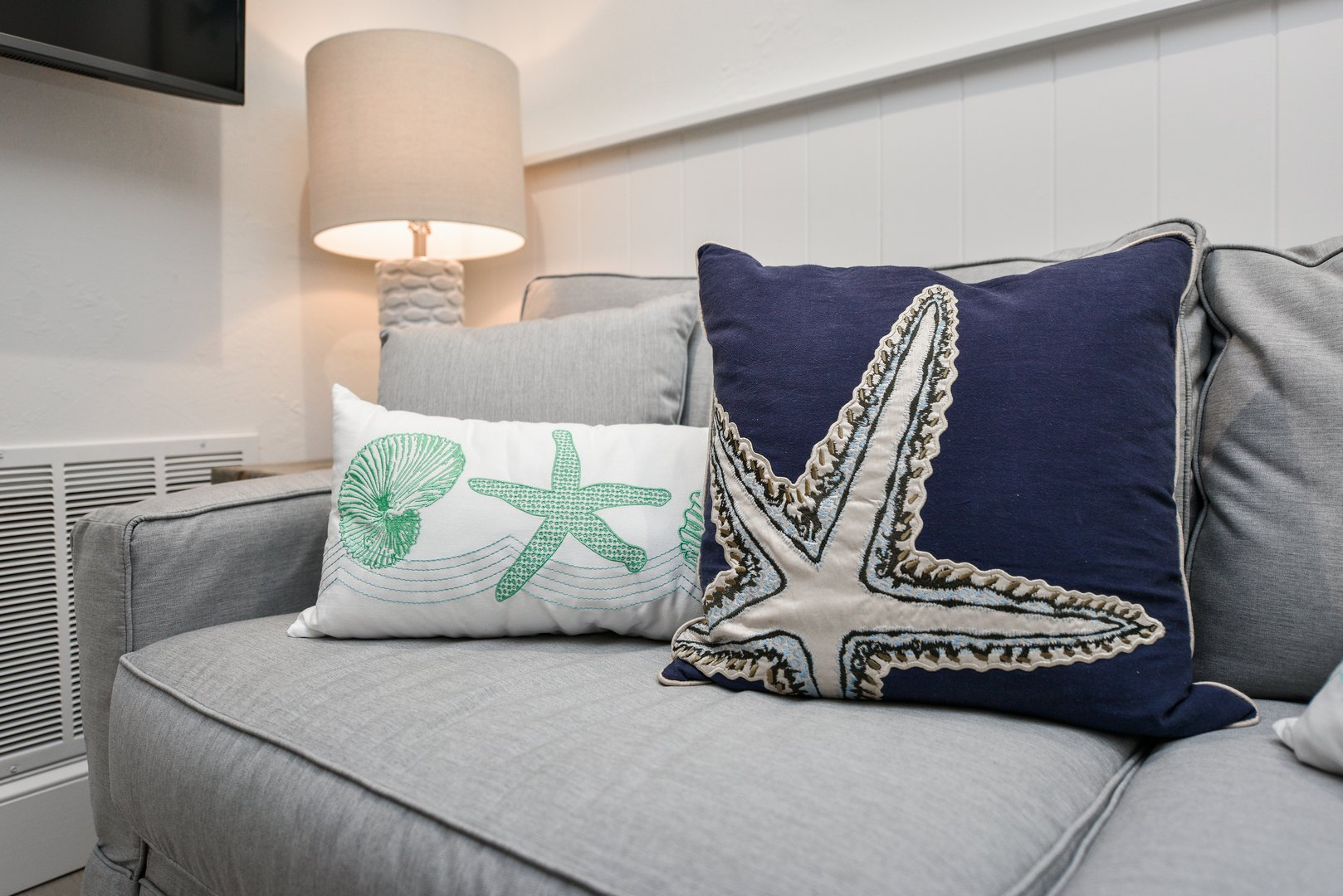 Comfortable Pillows and Coastal Decorations