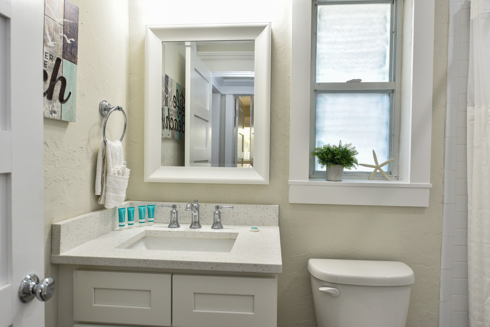 Large Vanity and Remodeled Bath