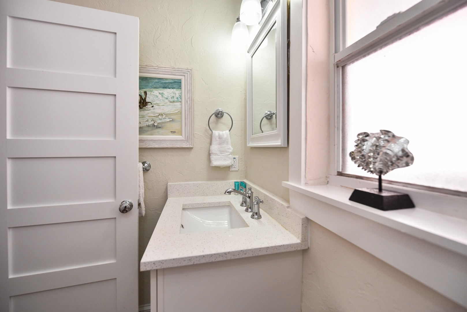 Easy Access Shower and Large Vanity