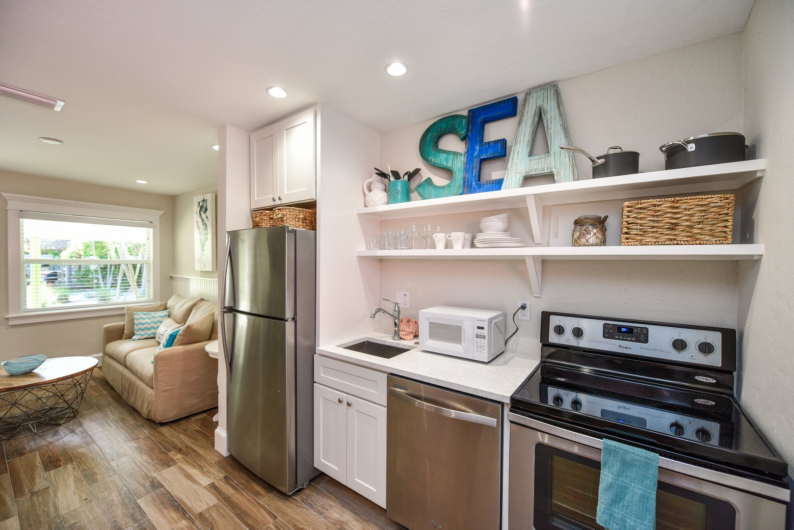 Kitchen Living and Dining in One Space