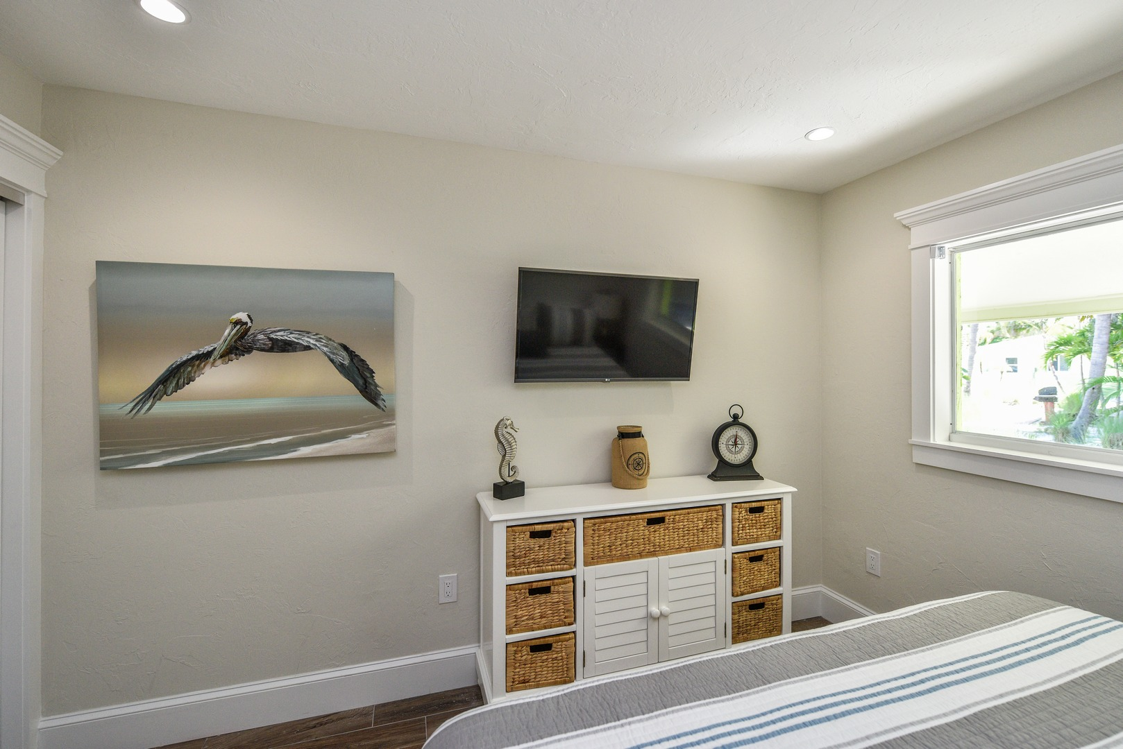 Master Bedroom HDTV and Storage