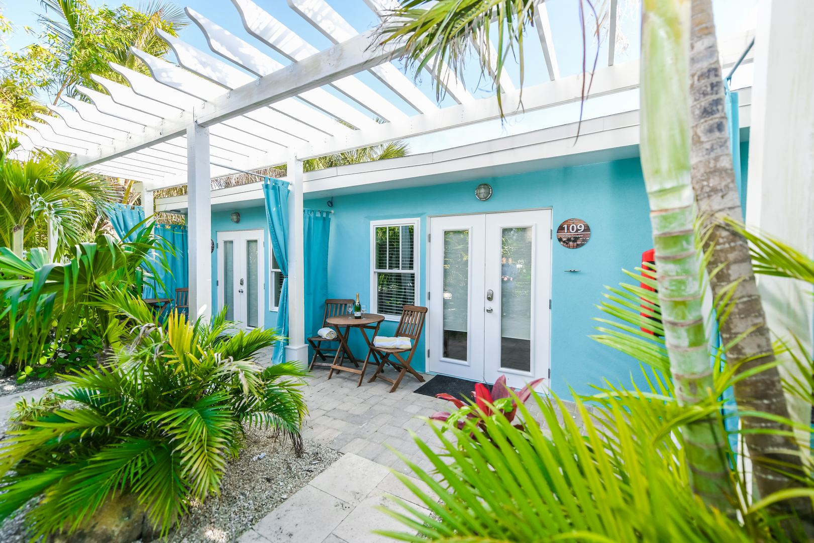 Entrance/Private Patio for Tropical Breeze Resort Unit 109