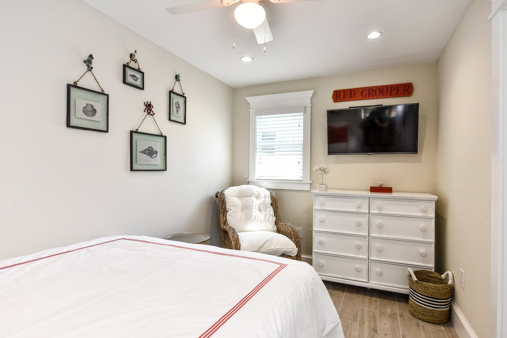 HDTV in your Bedroom with Dresser and Closet Storage