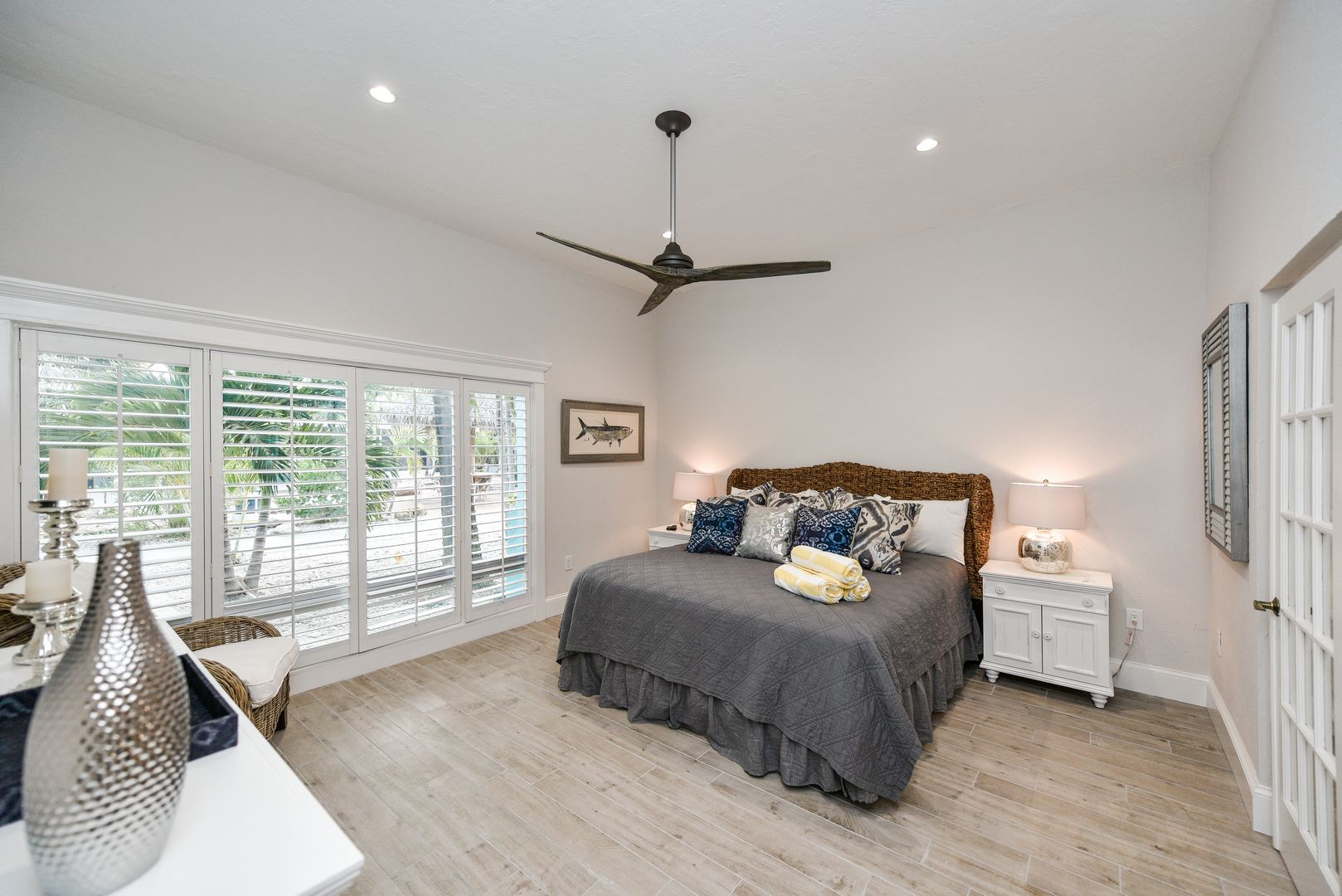 Huge Master Bedroom with Views of Tropical Landscaping