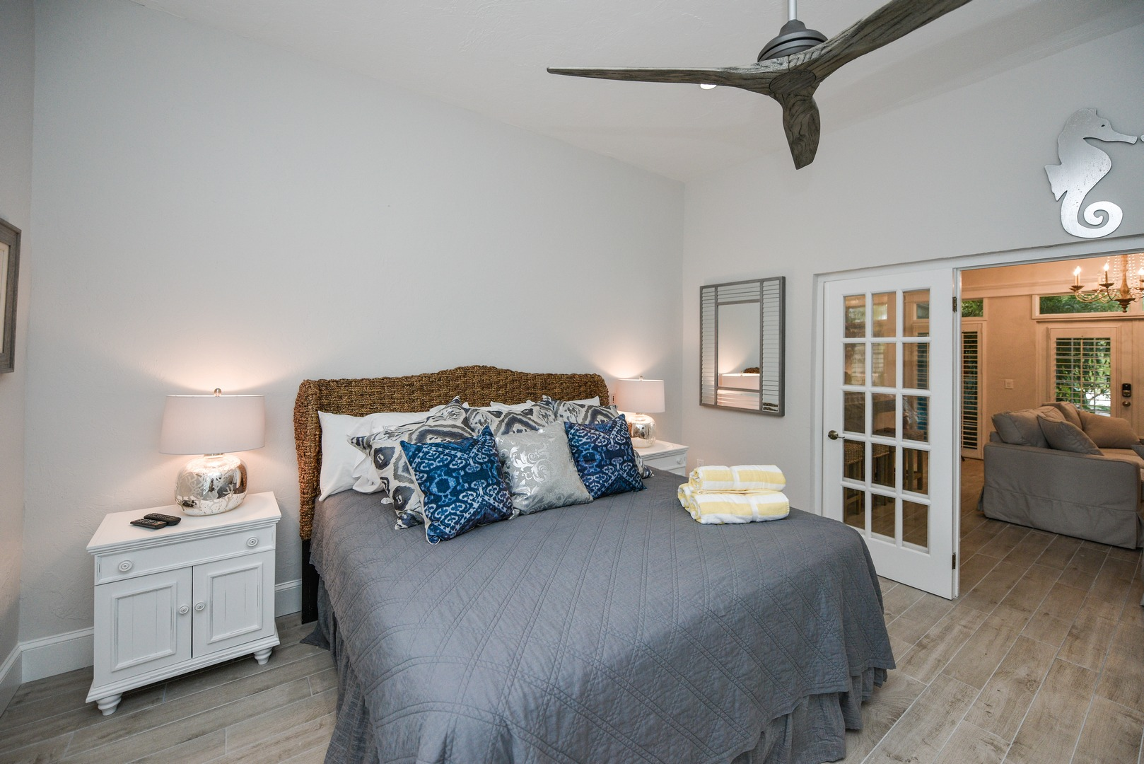 This King Size Bed looks small in this large room