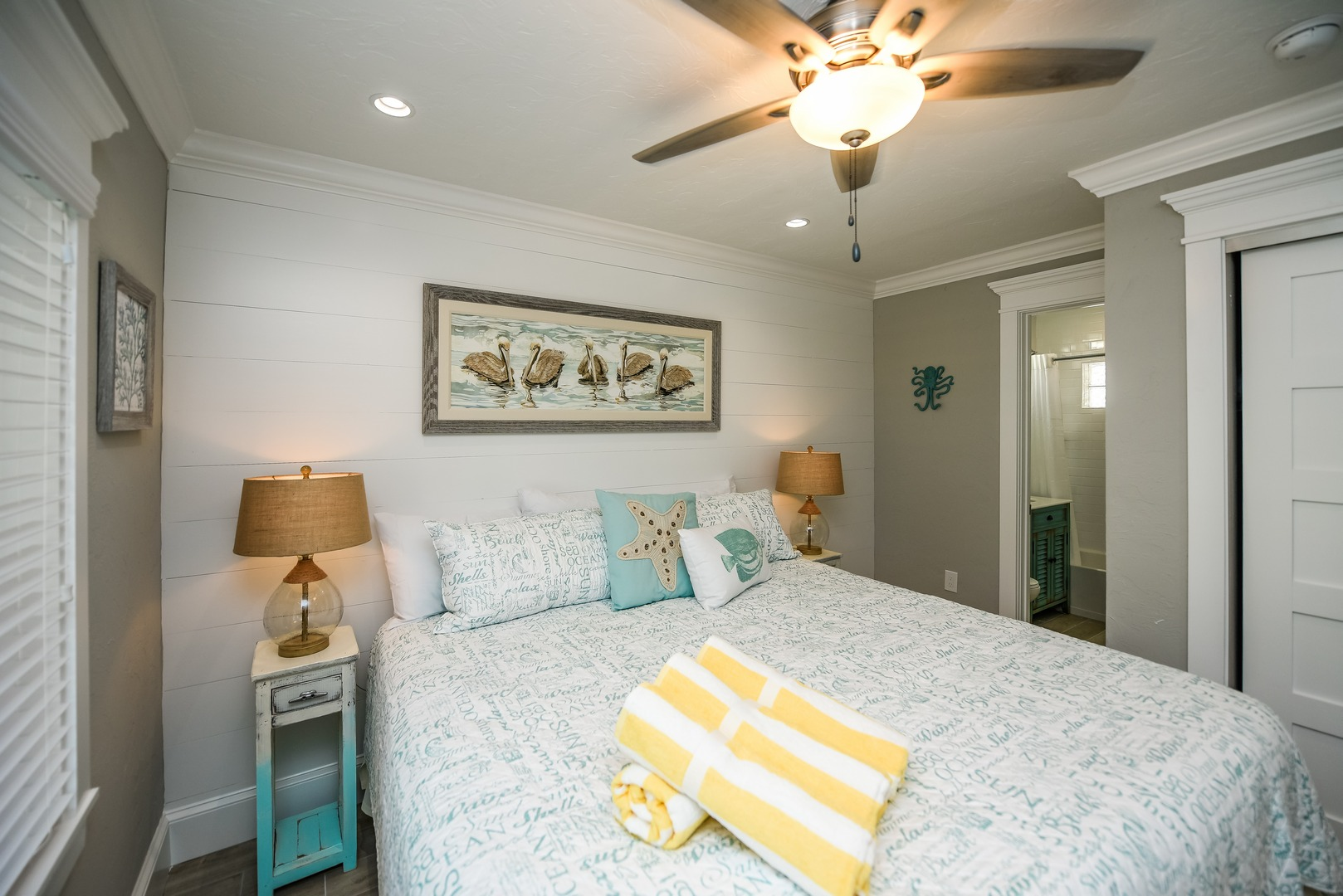 King Bed and Master Bath Access