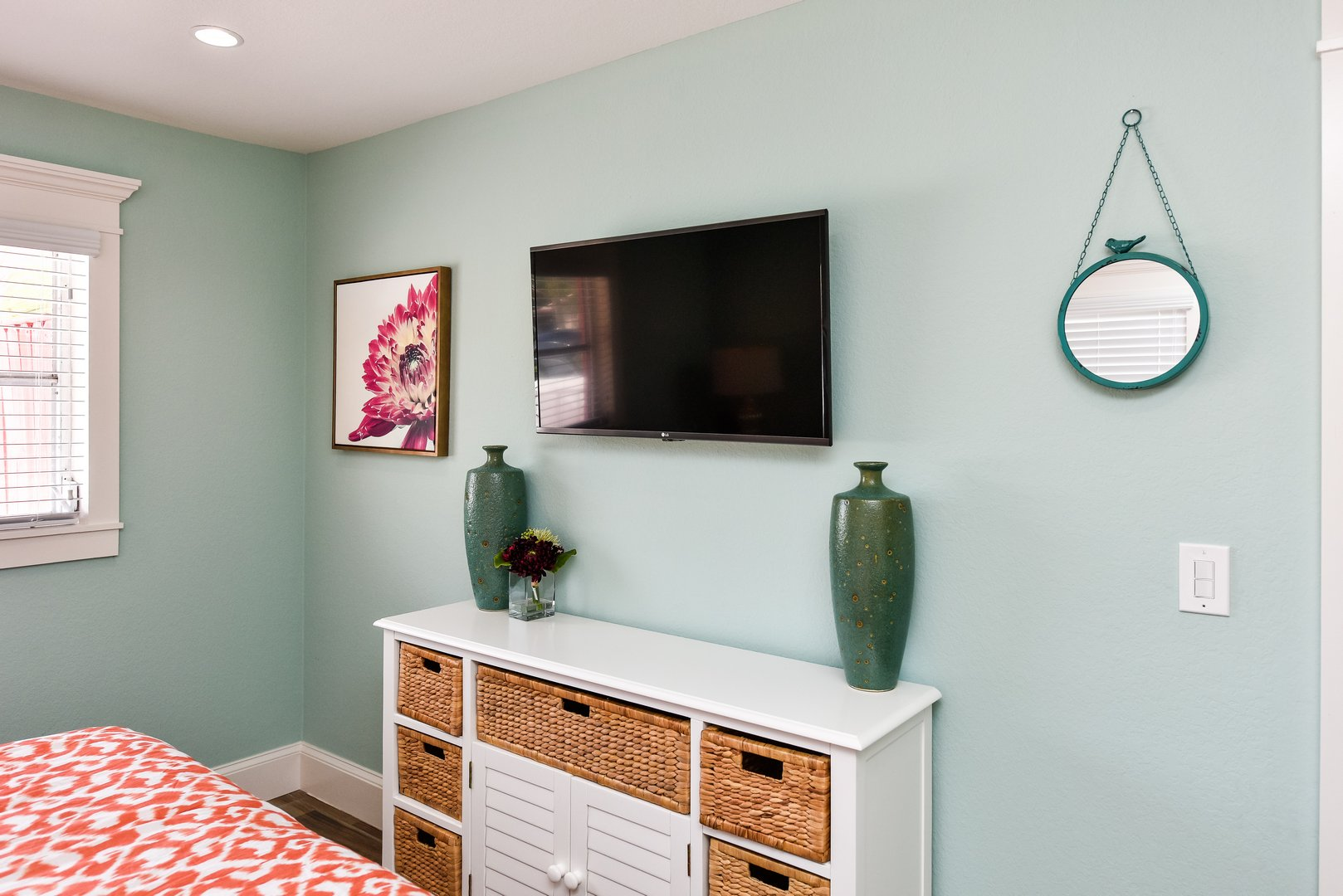 Large HD TV in your bedroom