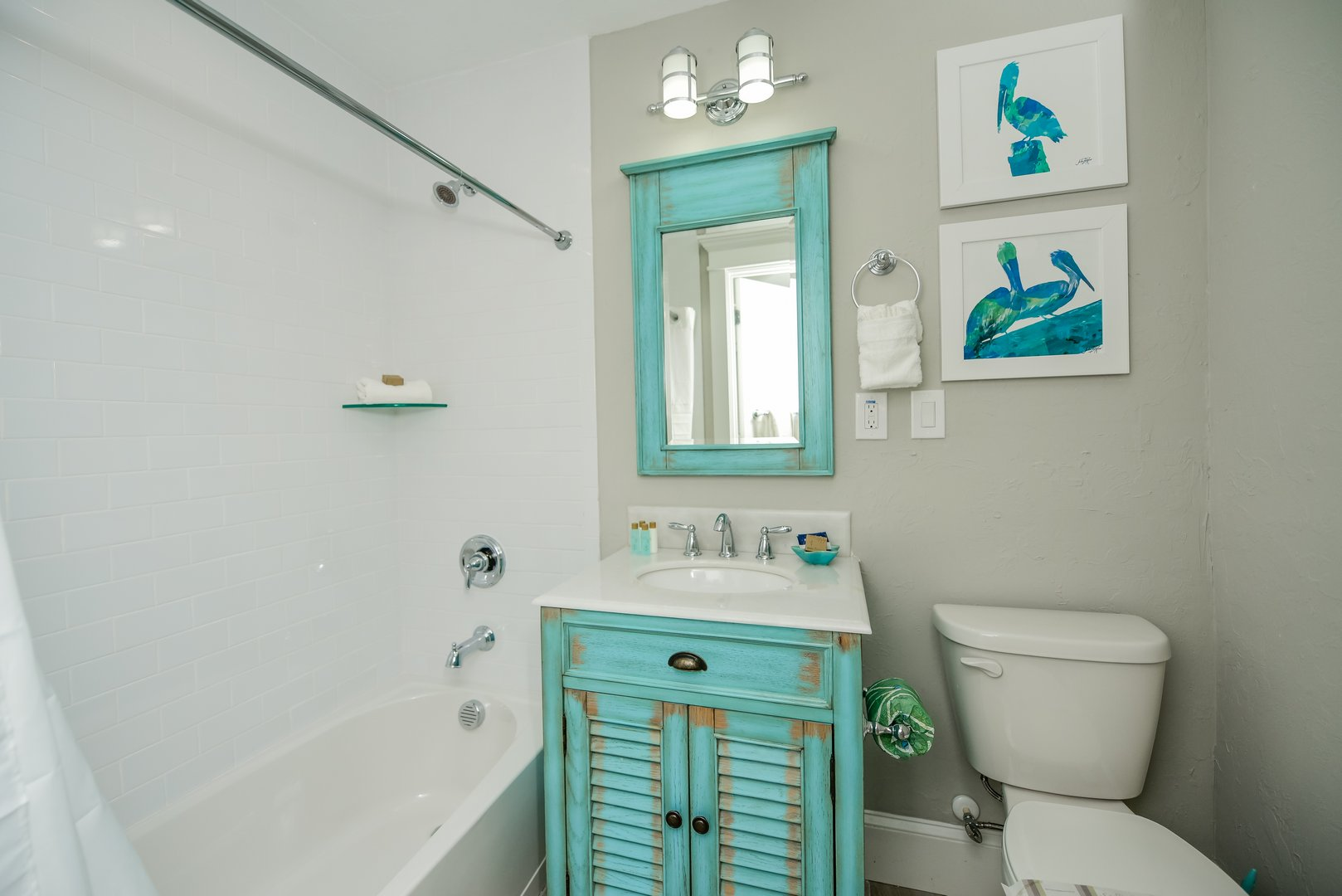 Full Bath with Shower and Tub Combination