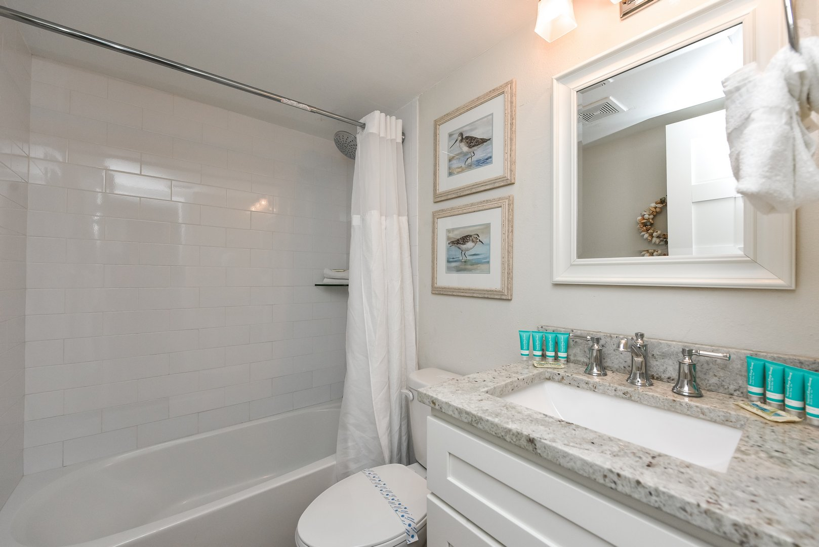 Full Bathroom with Shower and Tub Combo