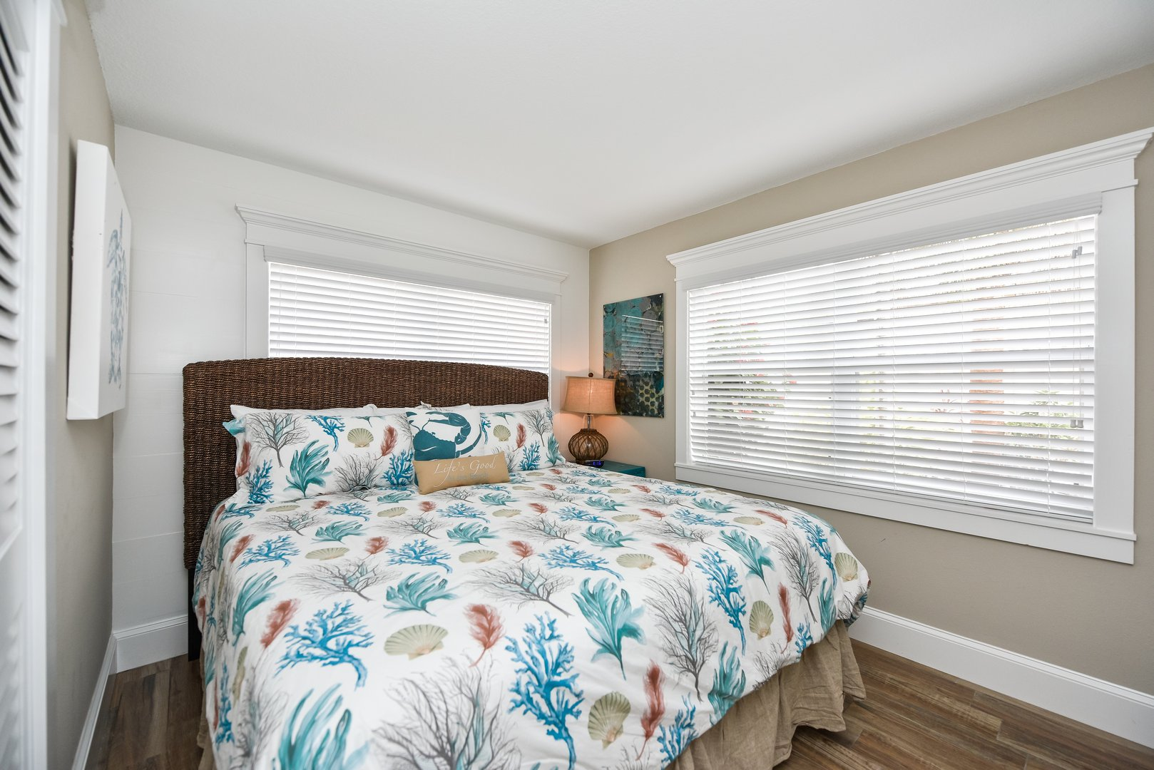 King Bed with upgraded linens and mattress