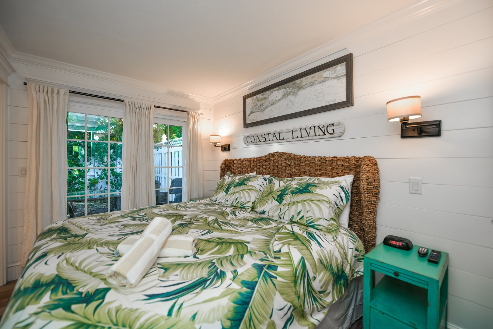 King Bed in Master - Private Courtyard Access and Views