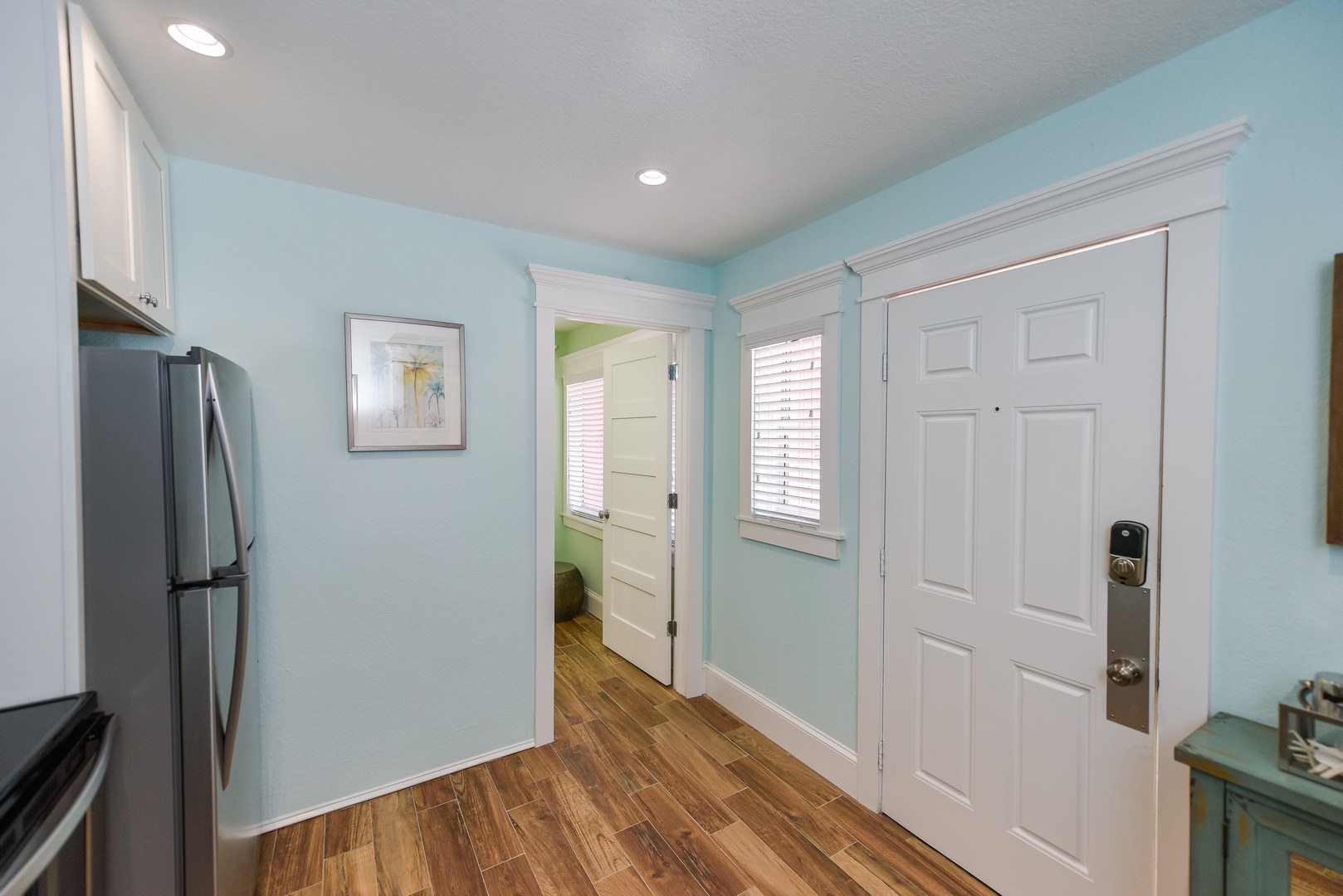 Entrance into this 1 Bedroom Suite - Bath to the right