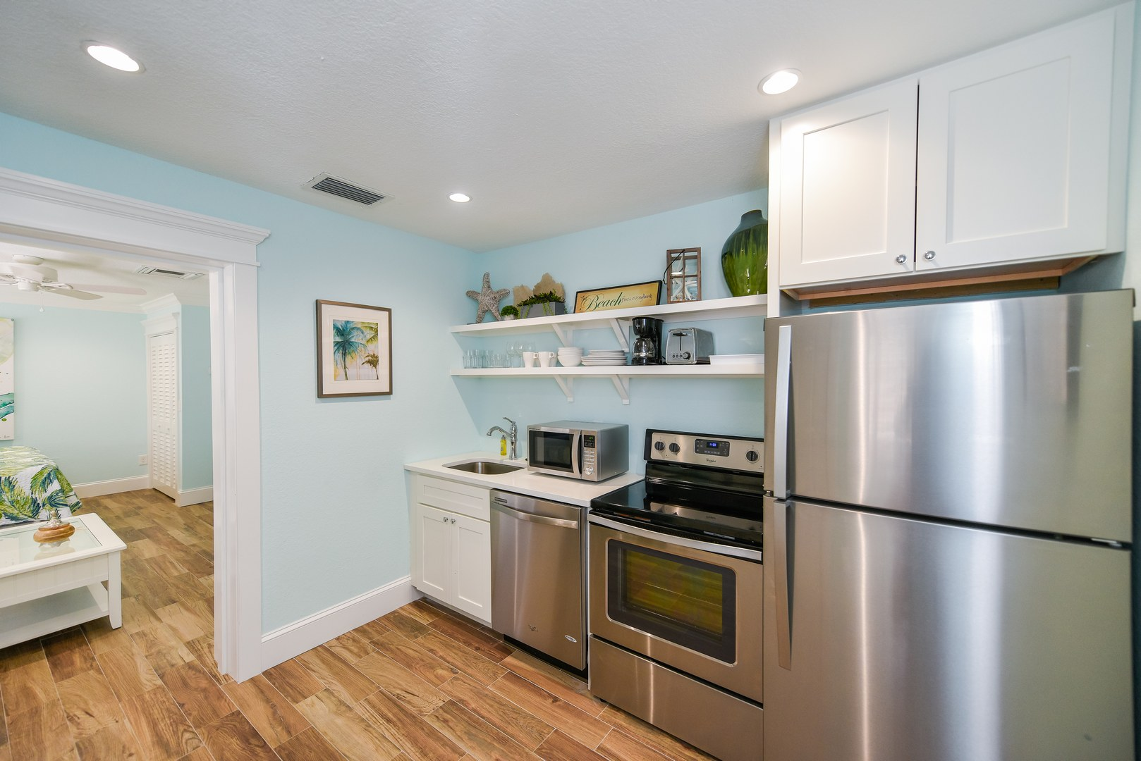 Stainless Steel Appliance add to this updated space