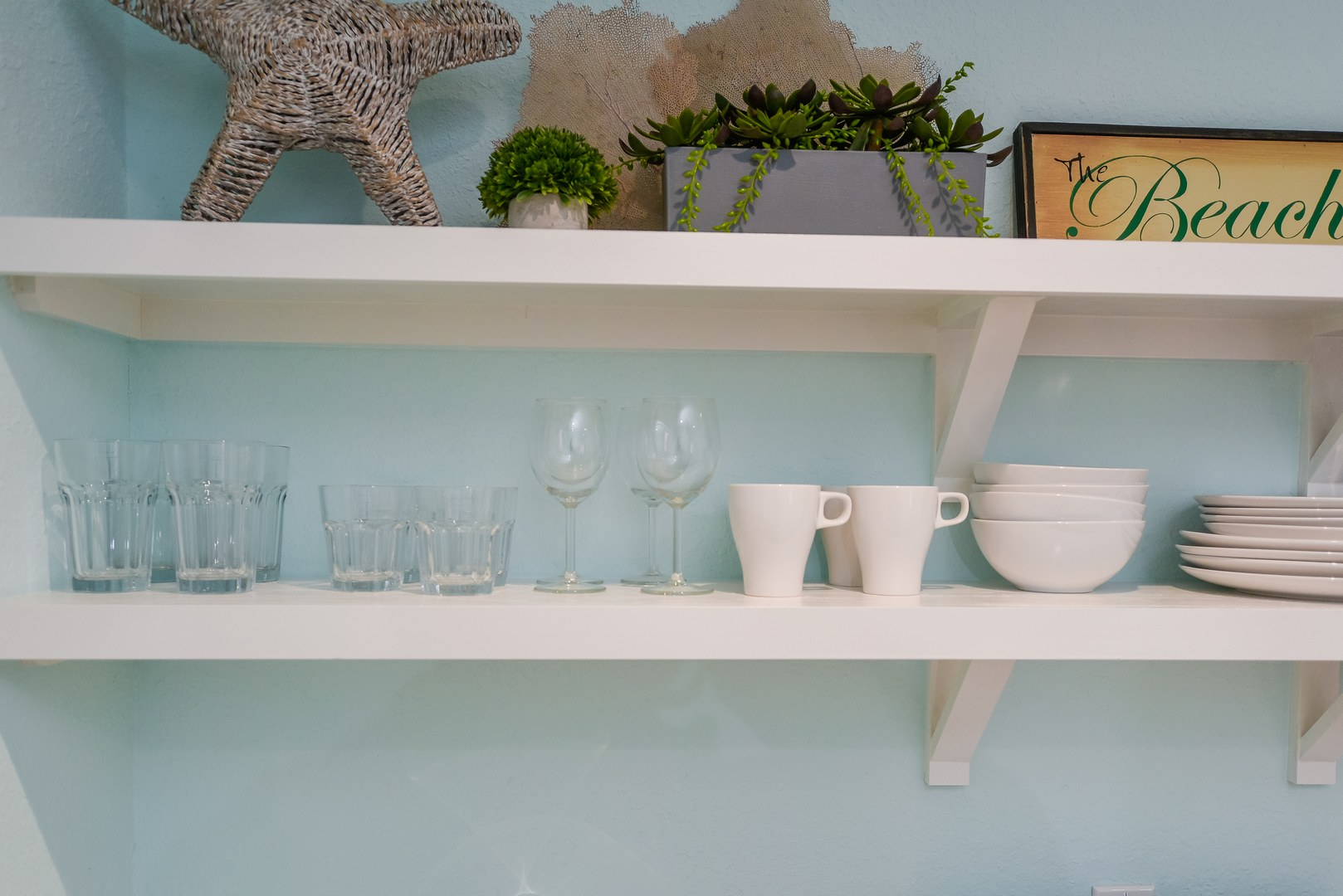We Stock the Kitchen with Dishes, Cups, Utensils, Pots/Pans