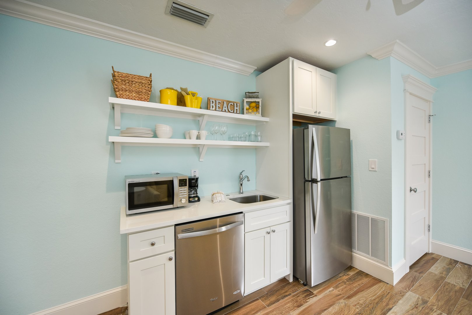 Kitchen Space with Full Fridge and Freezer