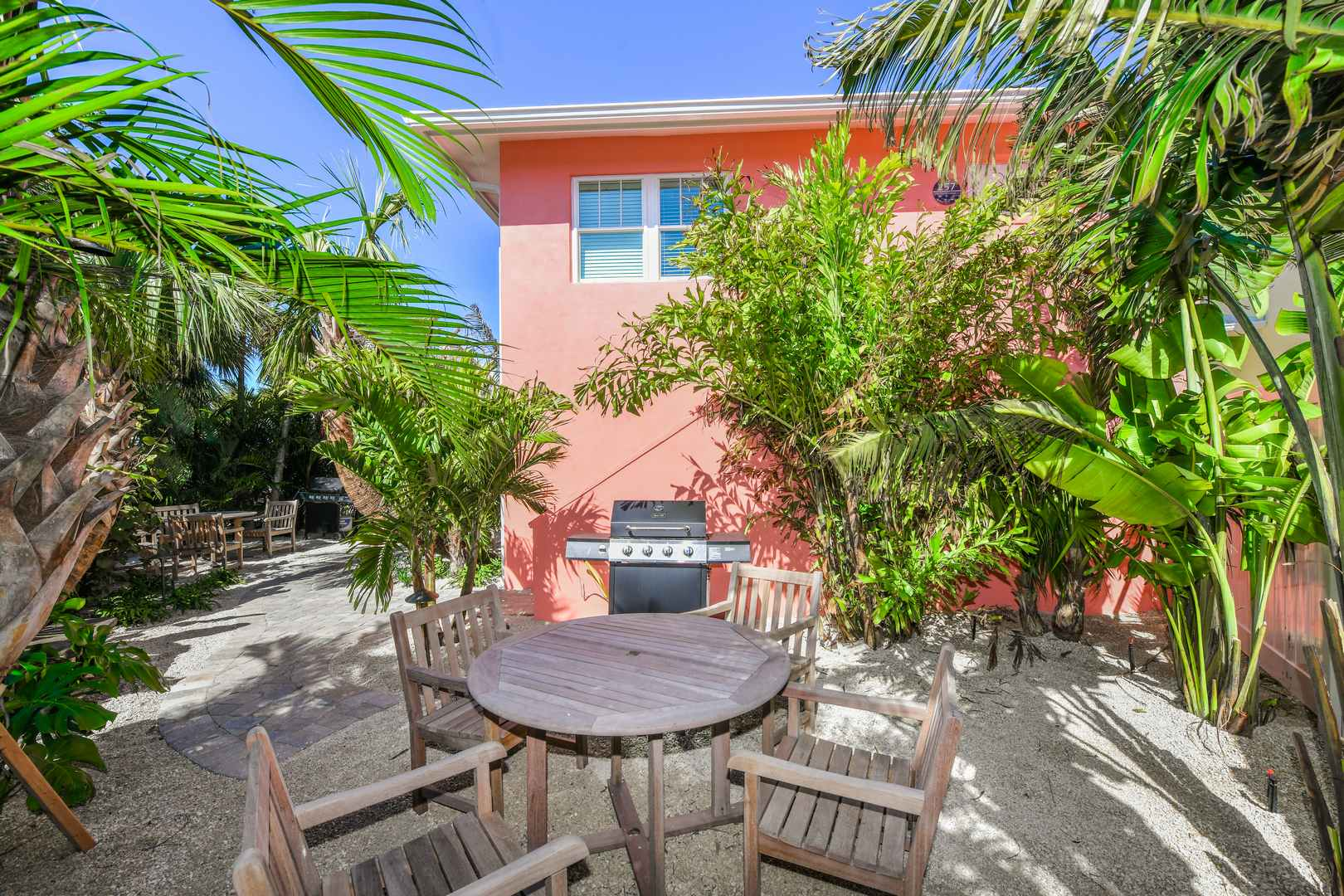 Private Patio -Stairs lead to this 2 Bedroom Suite- Sleeps 8