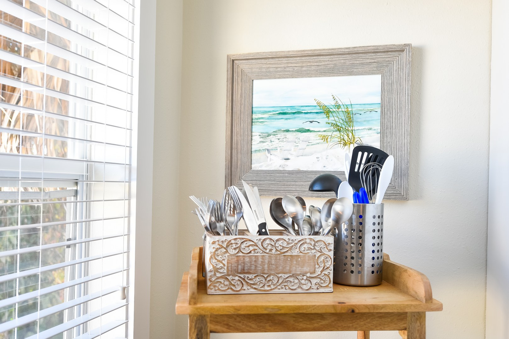 Kitchen utensils, glass ware, and more