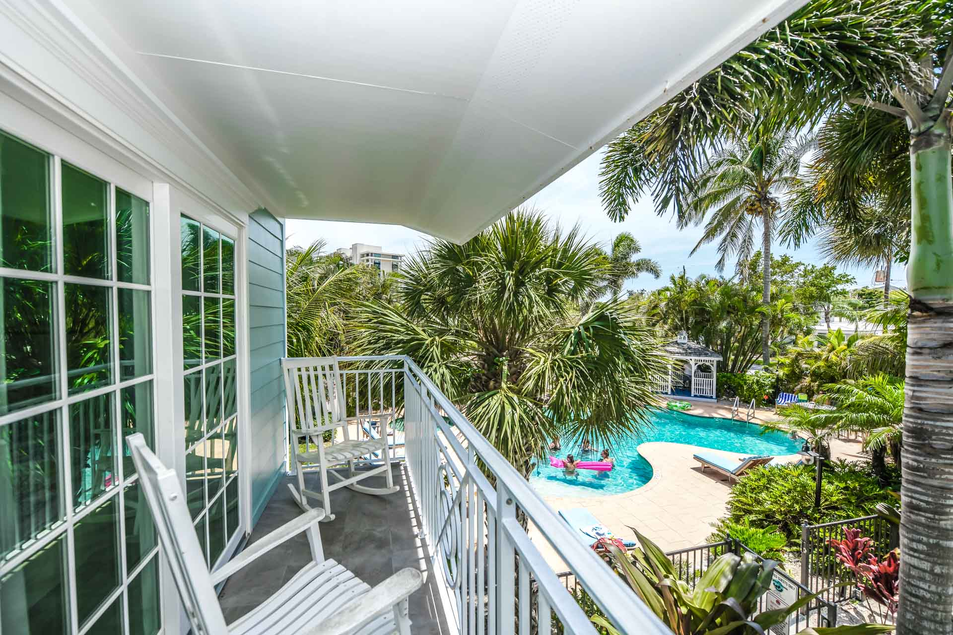 2 Bedroom. Private Balcony with Pool and Courtyard View