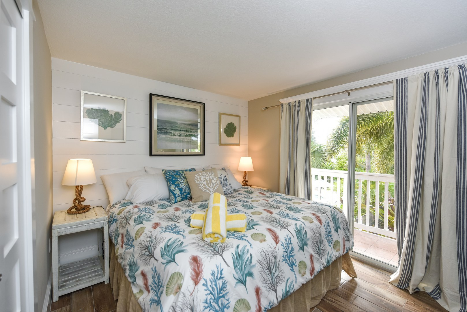 Large King Bed with Private Patio and Courtyard/Pool Views