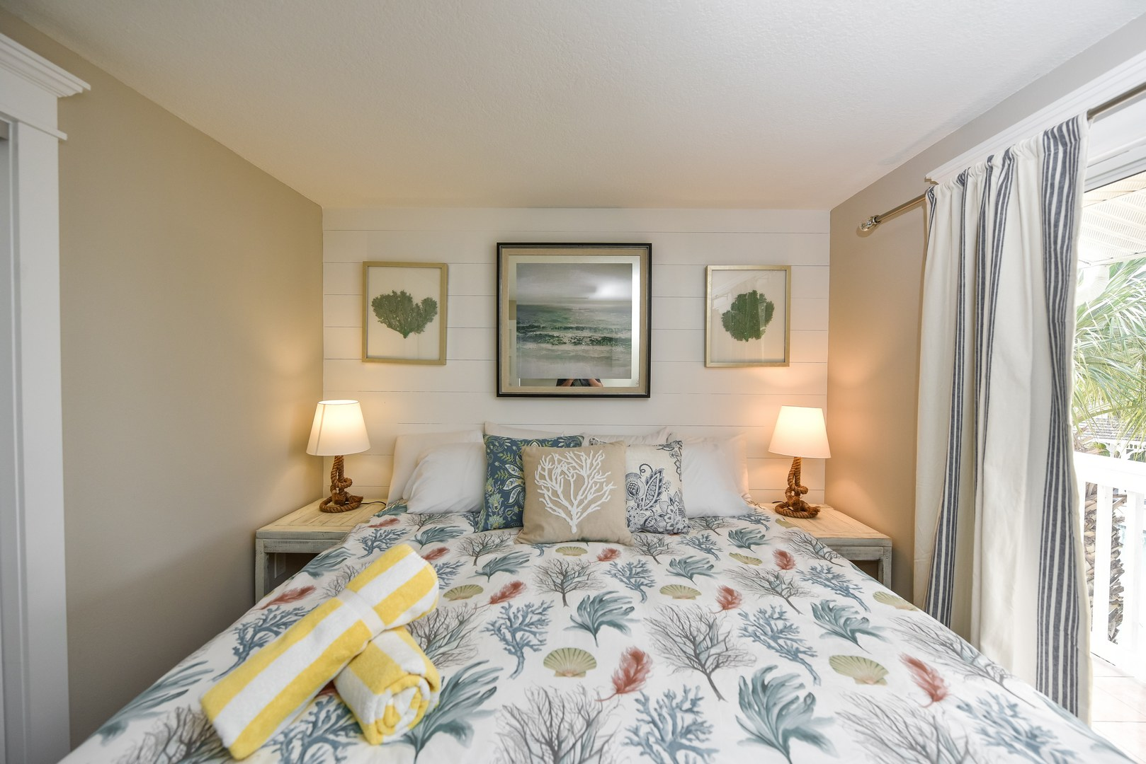 Upgraded linens and mattress ensure comfortable rest