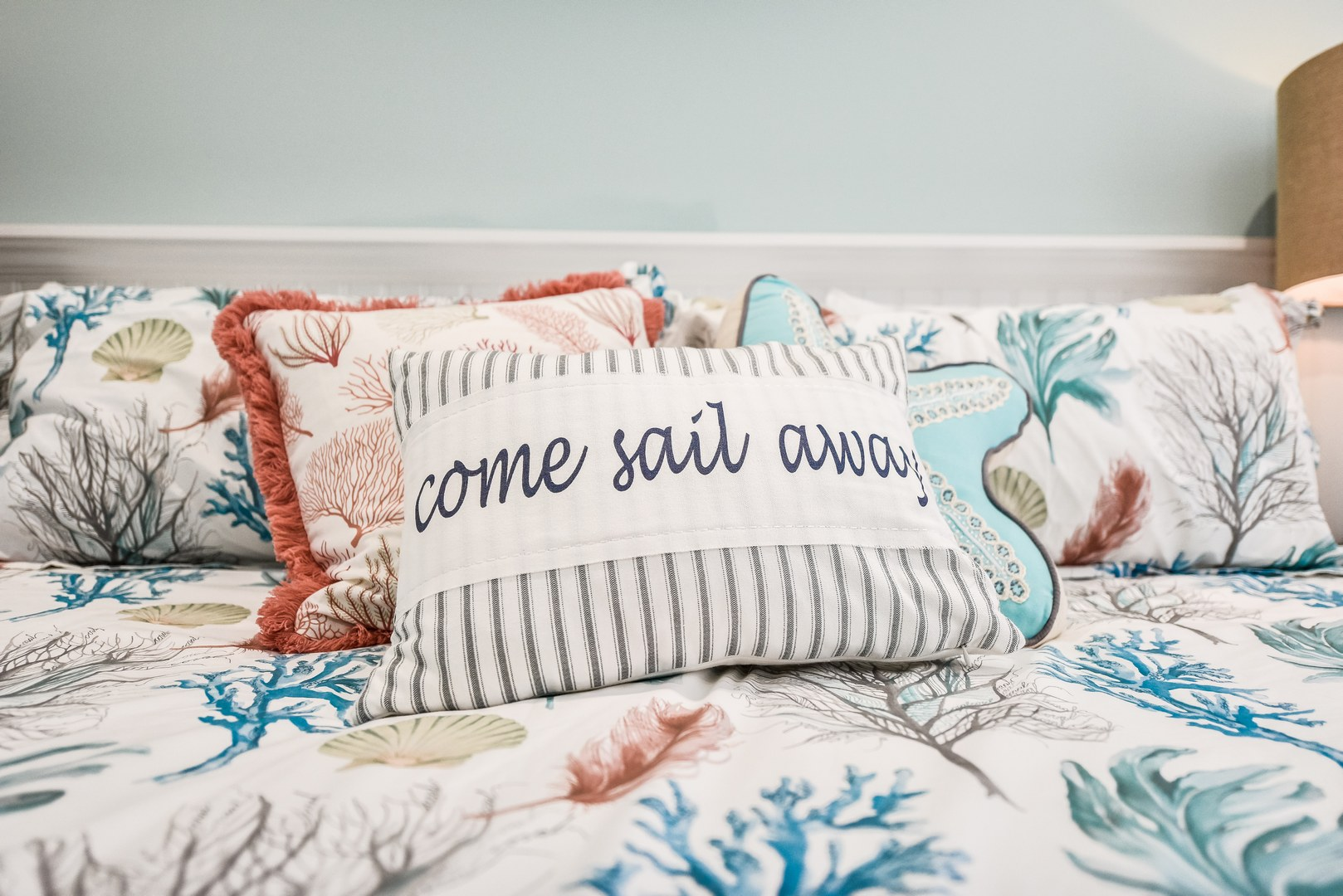 Drift Away on these high end linens and comforters