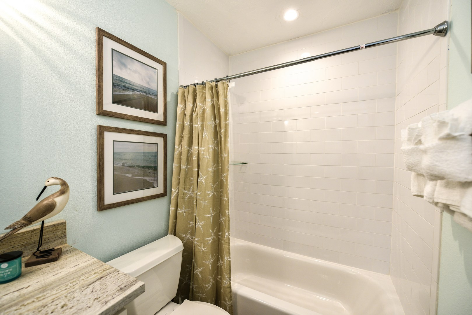 Gorgeous Bathroom with Shower and Tub Combo