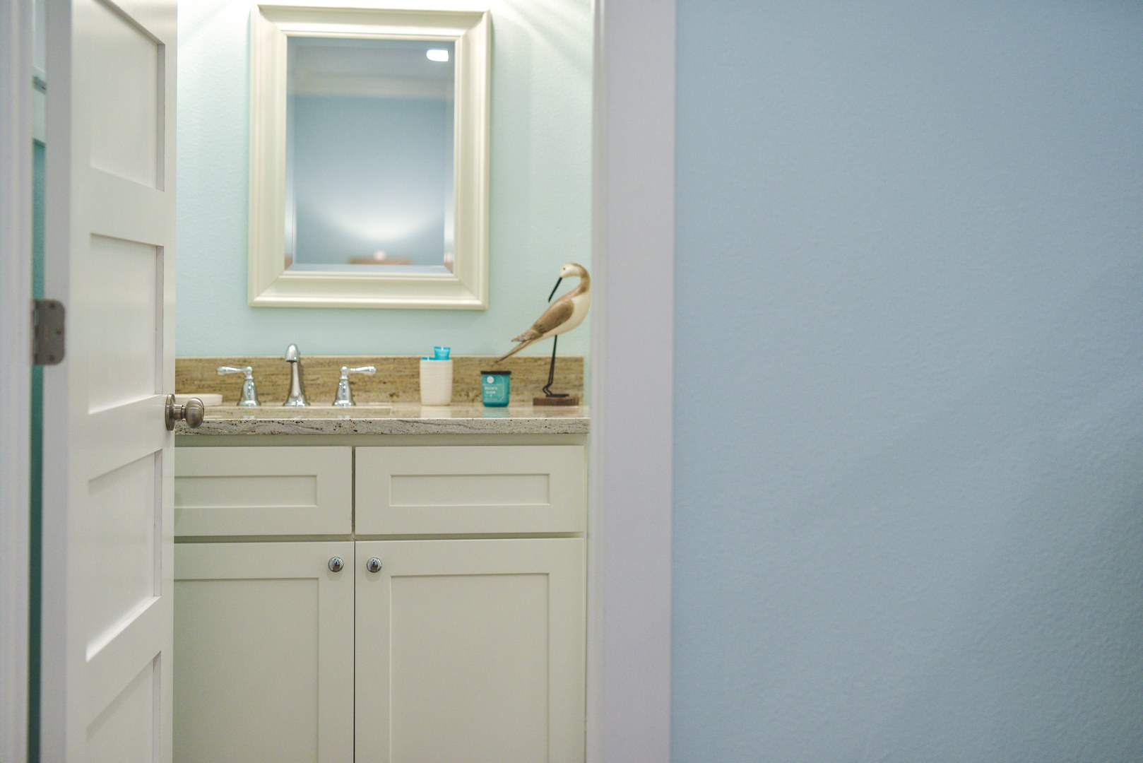 Wash Up before a Great Night Sleep in this Cozy Suite