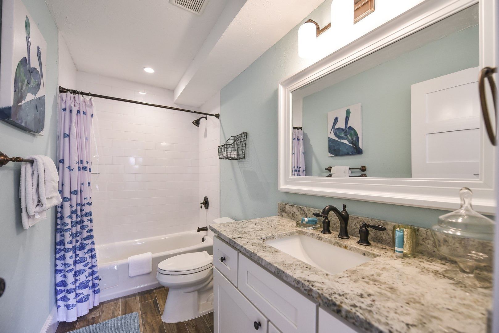 Beautiful Spacious Bathroom with Shower and Tub Combo
