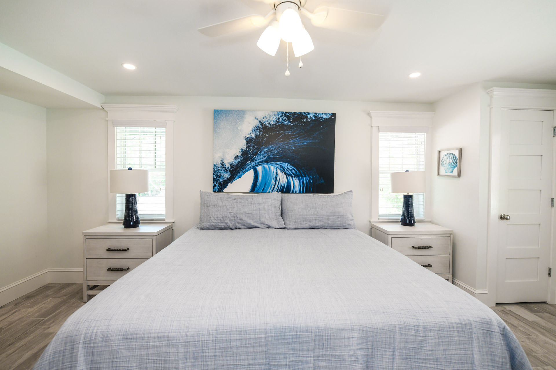 Bedroom 3 - Large Comfortable King Bed and Ocean Decor