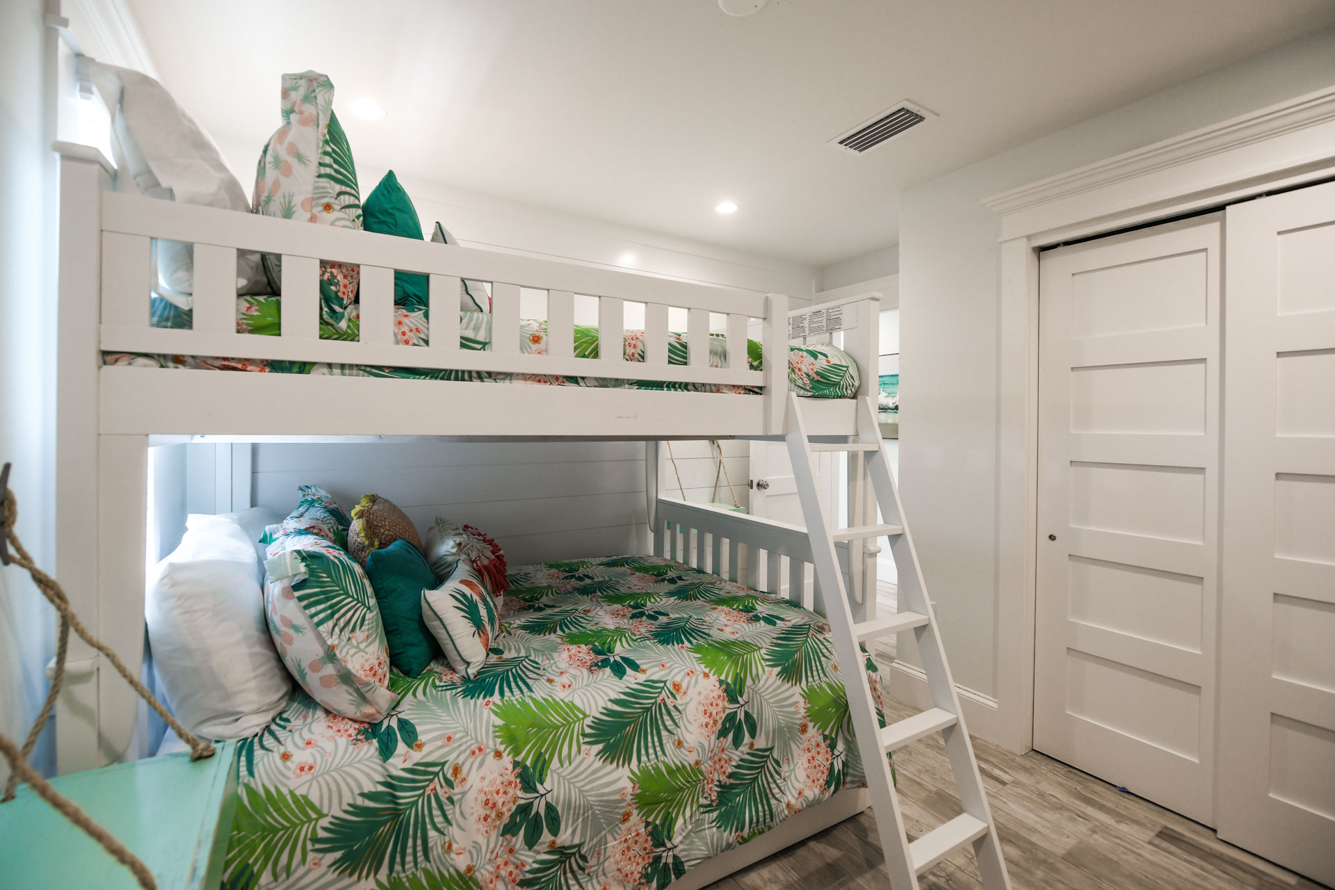 Bunk Room- Hawaiian Inspired decor with plenty of storage