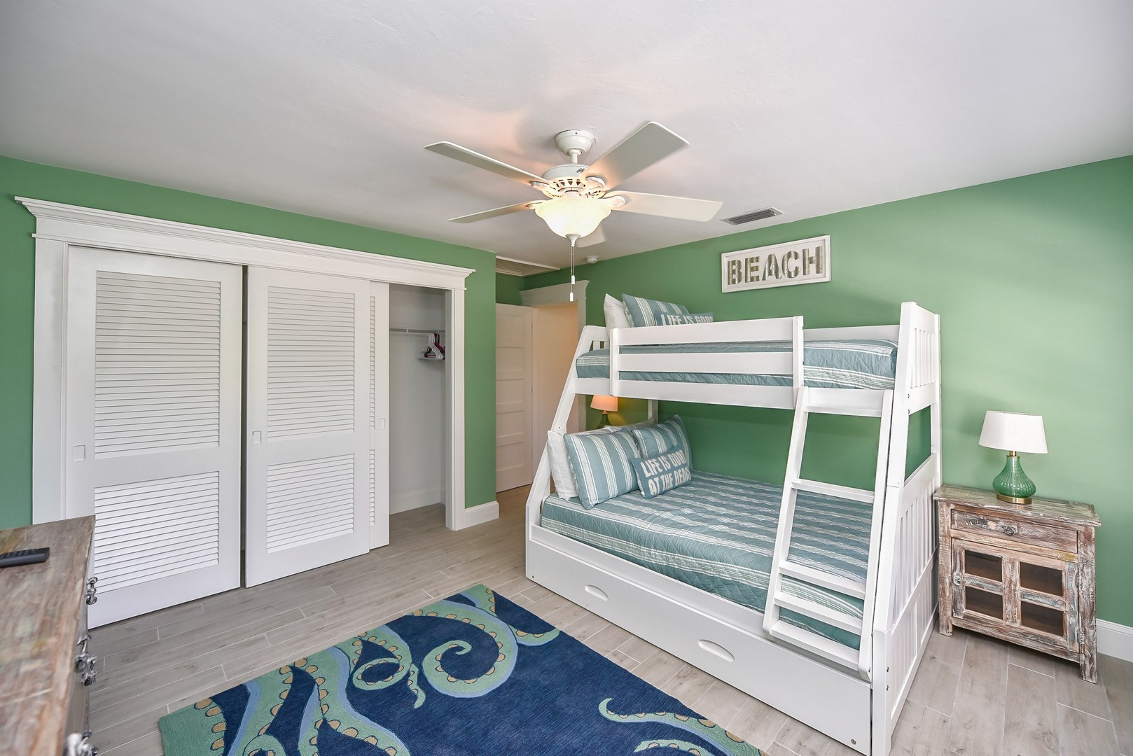 EXAMPLE - 2nd Bunk Bed Room - Twin over Full w/ Twin Trundle