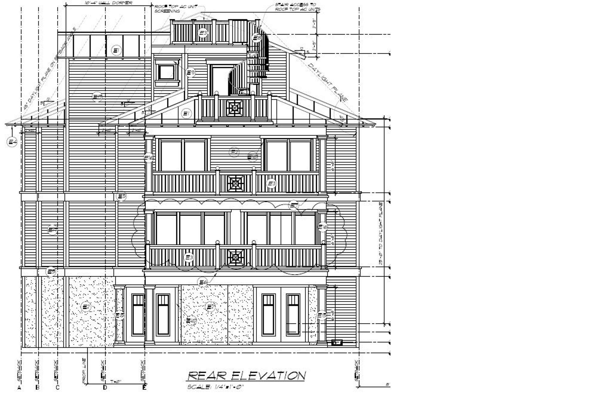 Rear of Home - Elevation
