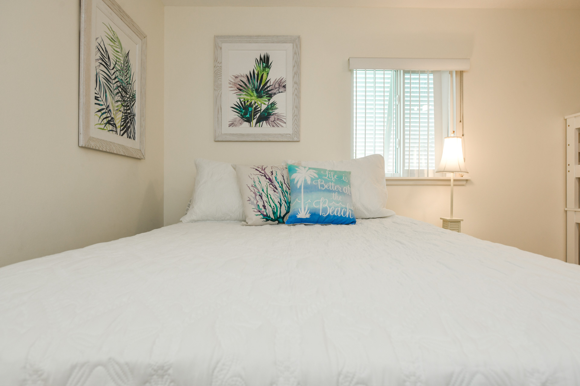 Curl up in a queen size bed after a long day