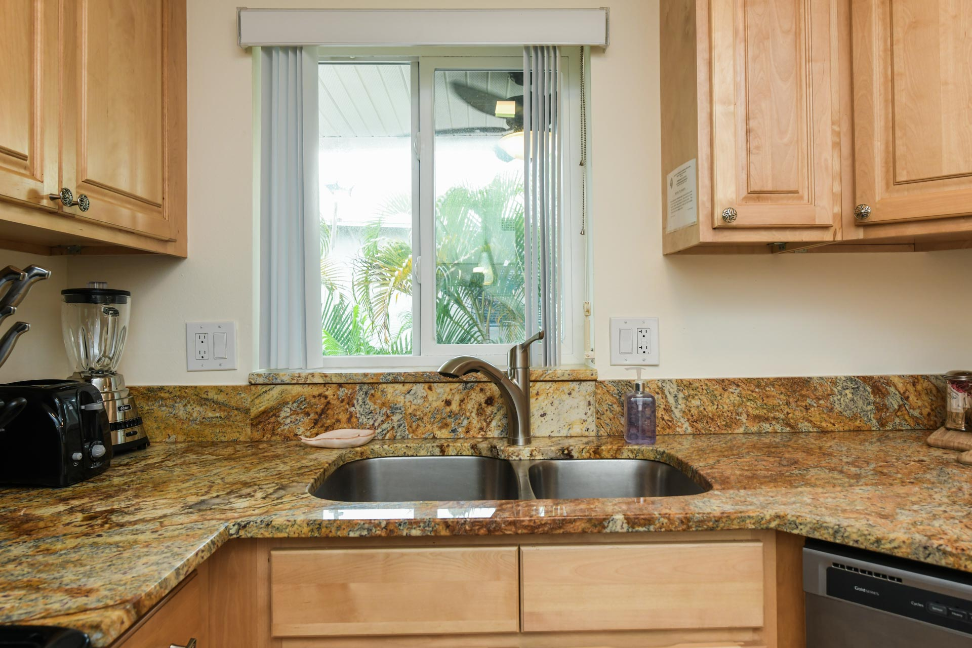 Double sided sink and dishwasher