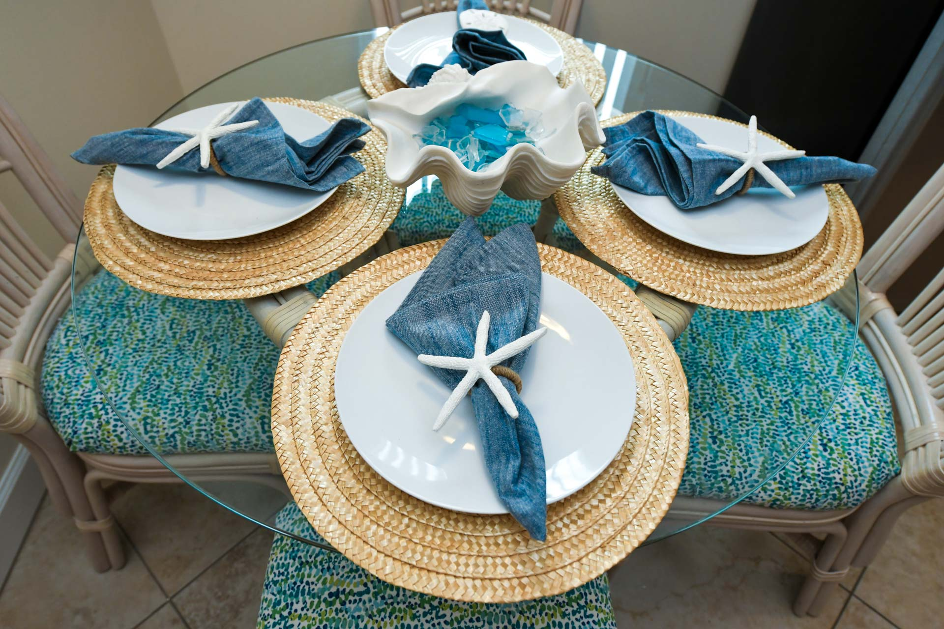 Ocean themed table decorations
