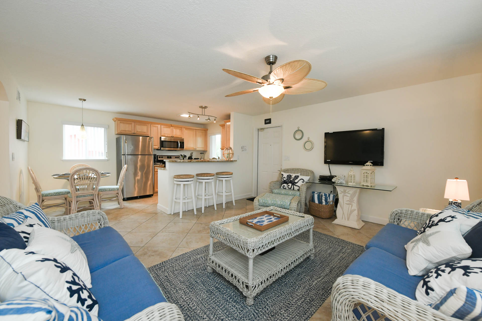 Open floor plan with seating for everyone