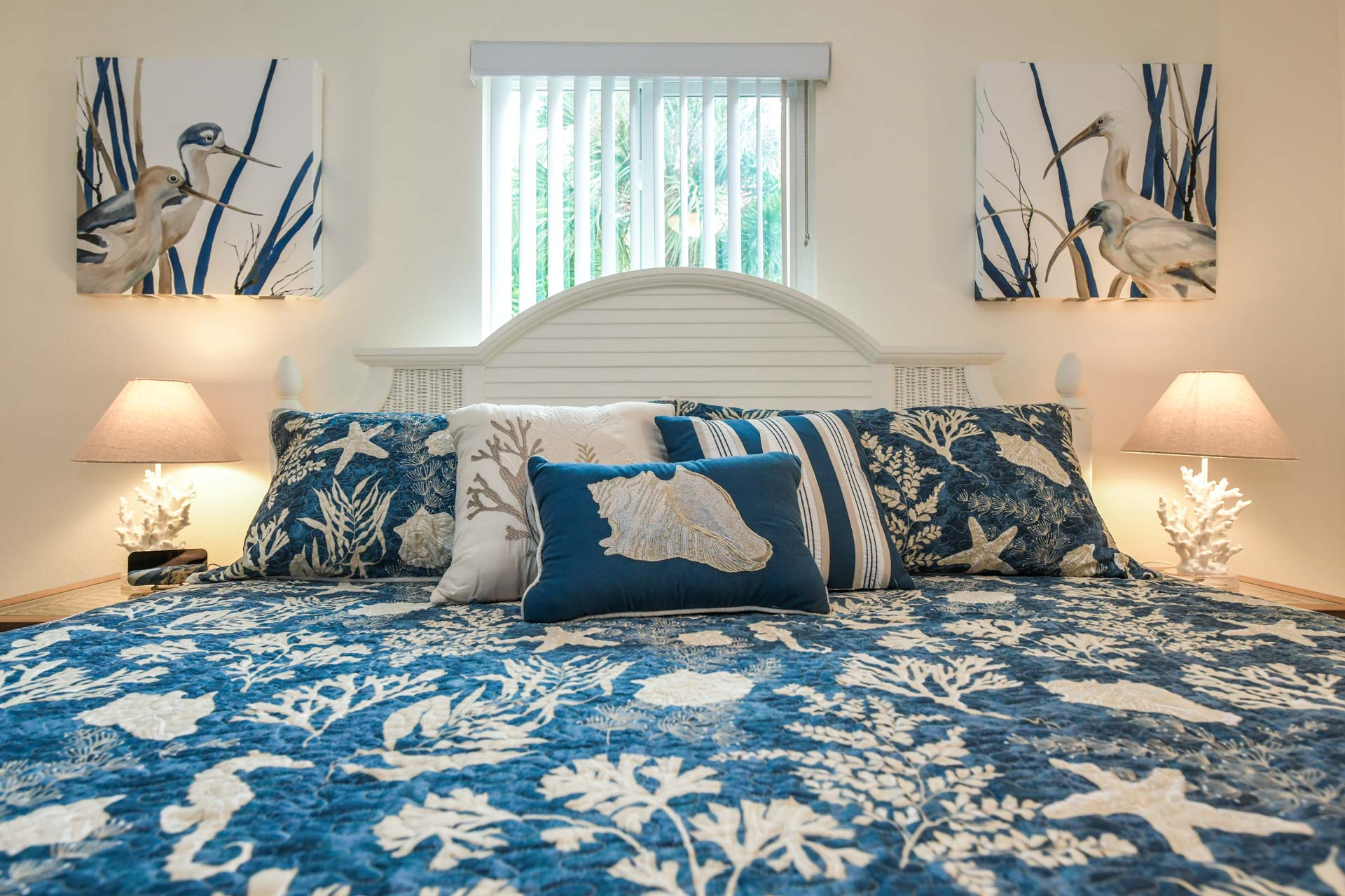 Relax in a spacious king size bed