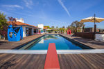 Solar heated swimming pool & large hot tub ready to go year-round
