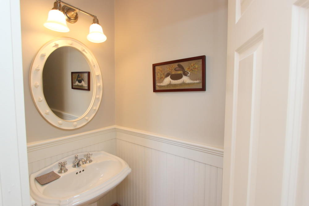 Second floor powder room