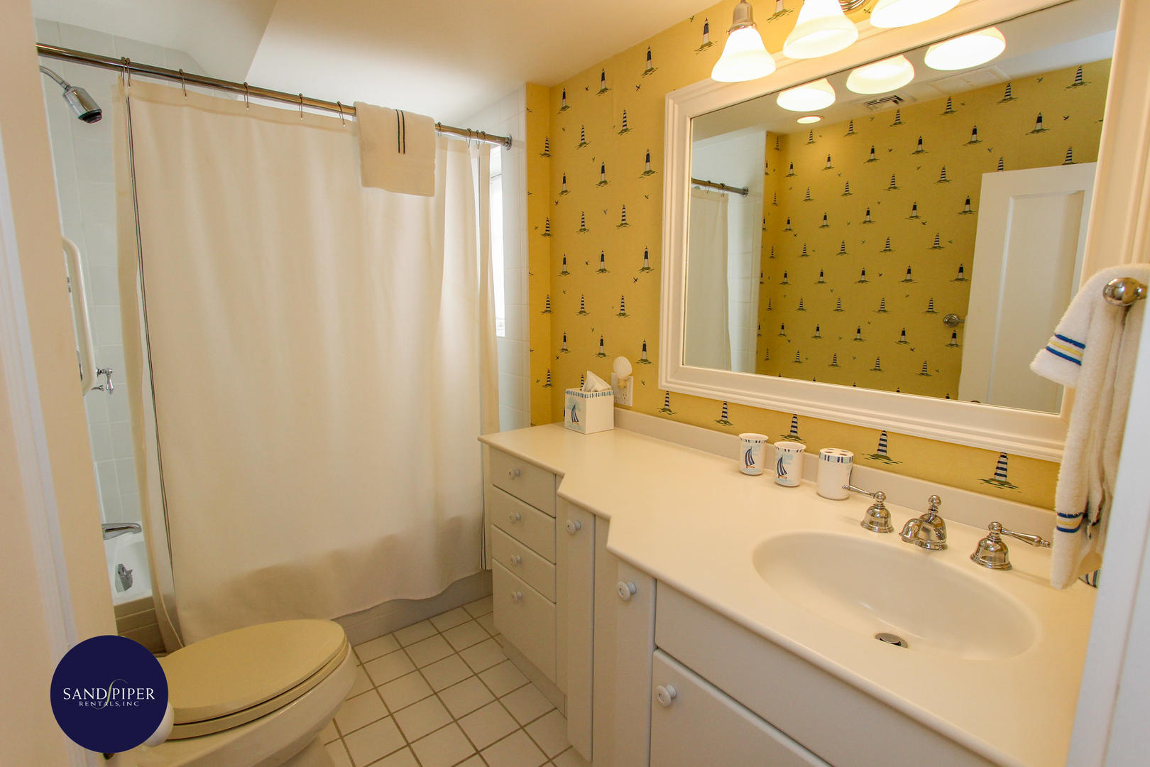 Bath with Shower Tub Combination, Second Floor