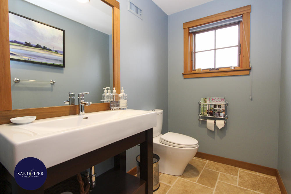 Half bath on first floor